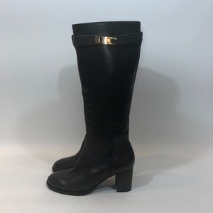 HALSTON HERITAGE Brown Leather Tall Ava Boots